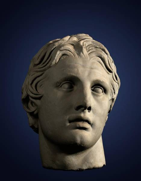 The Empire Photograph - Head Of Alexander The Great by David Parker