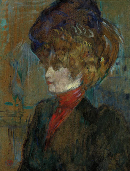 Wall Art - Painting - Head Of An English Lady by Henri de Toulouse-Lautrec
