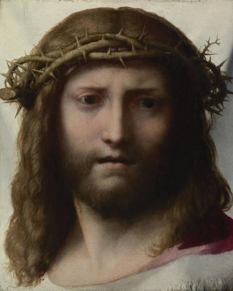 Man Of God Wall Art - Painting - Head Of Christ by Correggio