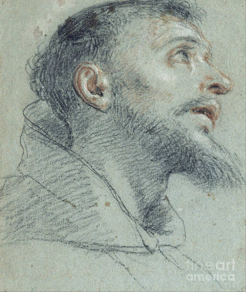 Painting - Head Of Saint Francis by Celestial Images