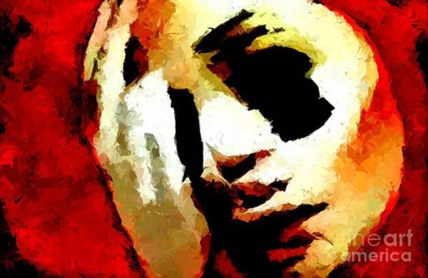 Depressed Digital Art - Headache by Chris Butler