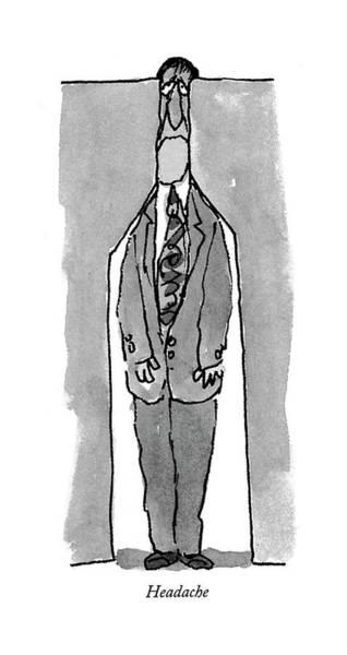 February 22nd Drawing - Headache by William Steig