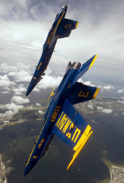 Blue Angels Photograph - Heading Down by Ricky Barnard