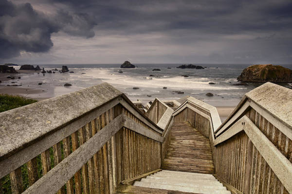 Oregon Coast Photograph - Heading Down To The Beach by Andrew Soundarajan