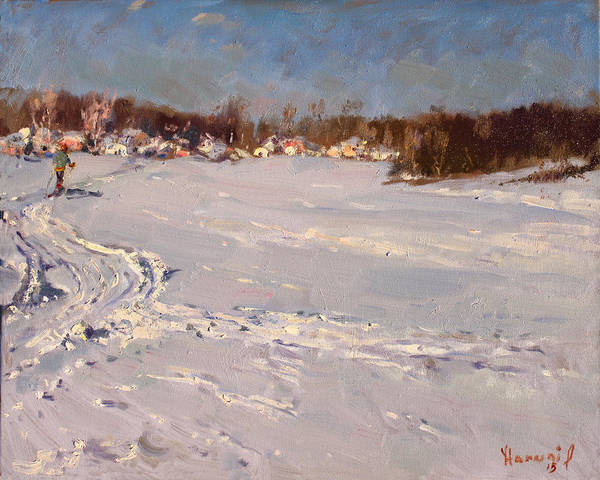 Snow Painting - Heading Home  by Ylli Haruni