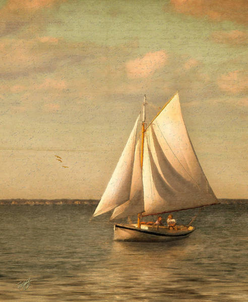 Sailing Wall Art - Mixed Media - Heading In by Michael Petrizzo