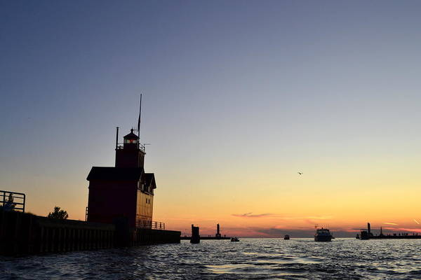 Holland State Park Photograph - Heading Out by Michelle Calkins
