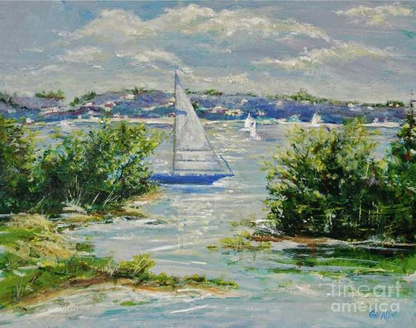 Painting - Heading Out Of The Harbor by Gail Allen