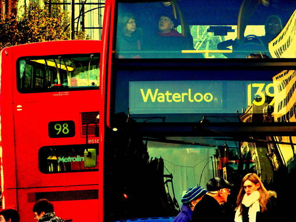 Wall Art - Photograph - Heading To Waterloo On London Bus  by Funkpix Photo Hunter