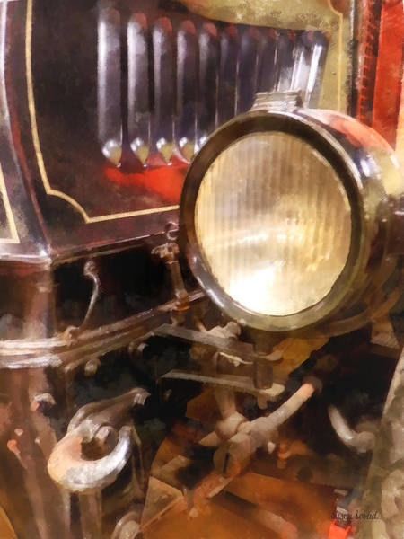 Photograph - Headlight From 1917 Truck by Susan Savad