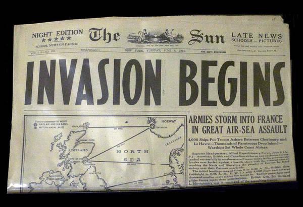 Wall Art - Photograph - Headlines Ww II Invasion Begins by Thomas Woolworth