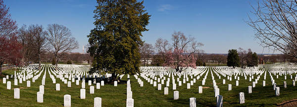 Arlington County Photograph - Headstones In A Cemetery, Arlington by Panoramic Images