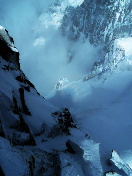 Photograph - Headwall Mount Blanc by Frank Wilson