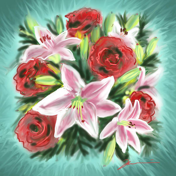 Painting - Healing Flowers by Jean Pacheco Ravinski