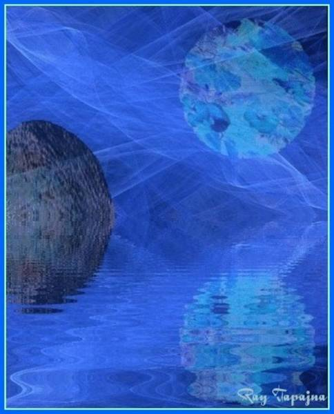 Mixed Media - Healing In Blue Coming Home by Ray Tapajna