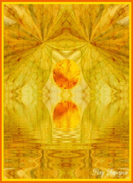 Healing In Golden Sunlight Art Print by Ray Tapajna