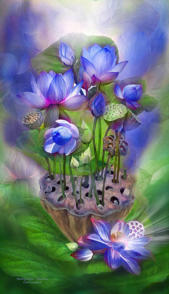 Mixed Media - Healing Lotus - Third Eye by Carol Cavalaris