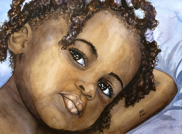Nigeria Painting - Nigerian Eyes by Michal Madison