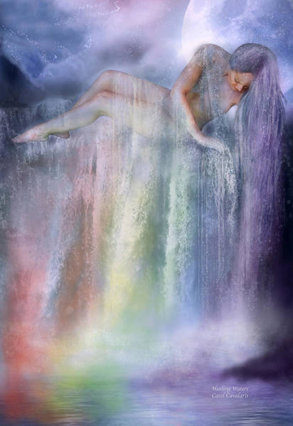 Mixed Media - Healing Waters by Carol Cavalaris
