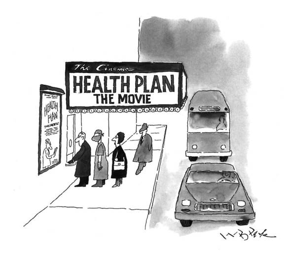 Line Up Drawing - Health Plan:  The Movie by W.B. Park