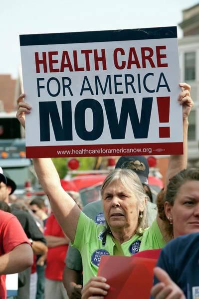 Demonstrators Photograph - Healthcare Reform Campaign by Jim West