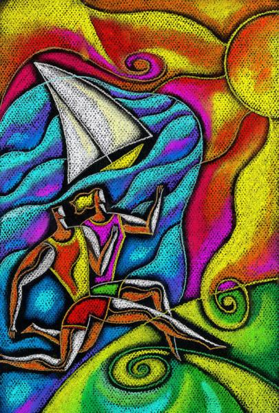 Energy Painting - Healthy Jog by Leon Zernitsky