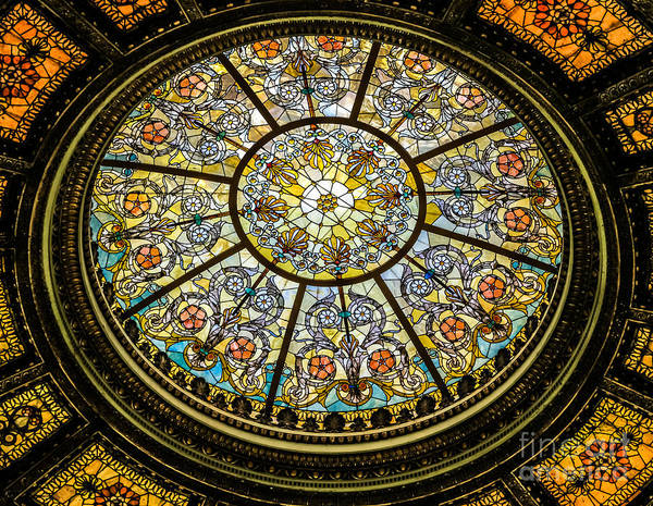 Photograph - Healy Millet Ceiling Oculus  by Eleanor Abramson