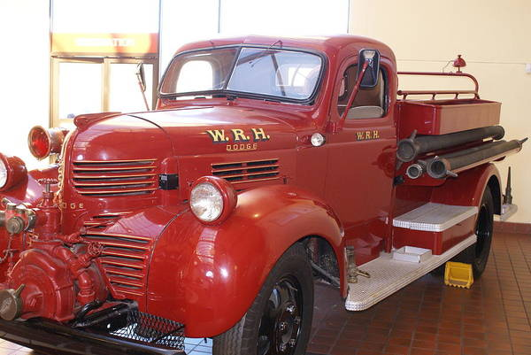 Photograph - Hearst Fire Truck by Barbara Snyder