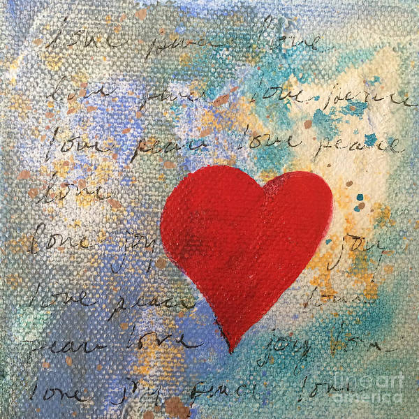 Painting - Heart #9 by Robin Maria Pedrero