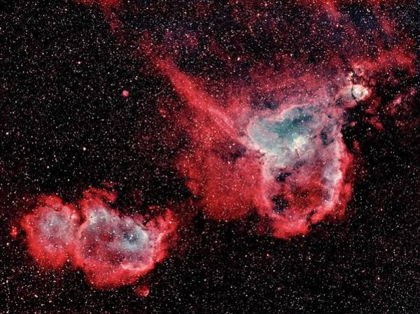 Wall Art - Photograph - Heart And Soul Nebulae by J-p Metsavainio/science Photo Library