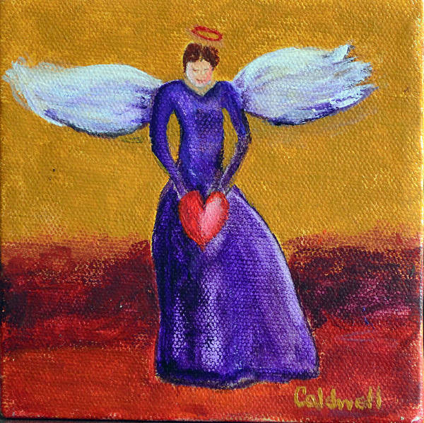 Wall Art - Painting - Heart Angel by Patricia Caldwell