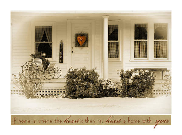 Photograph - Heart At Home by Robin-Lee Vieira