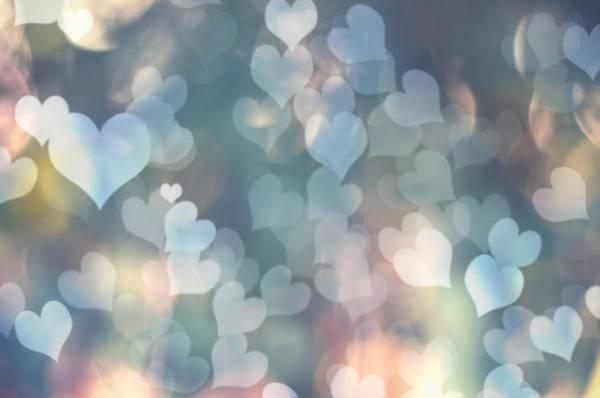 Valentines Photograph - Heart Background by Amanda Elwell