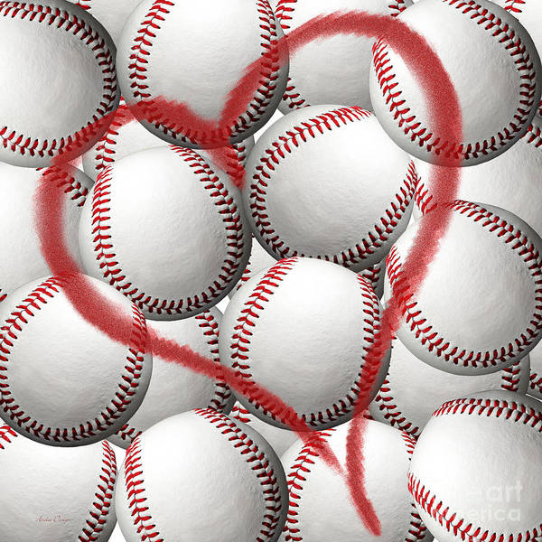 Photograph - Heart Baseballs by Andee Design