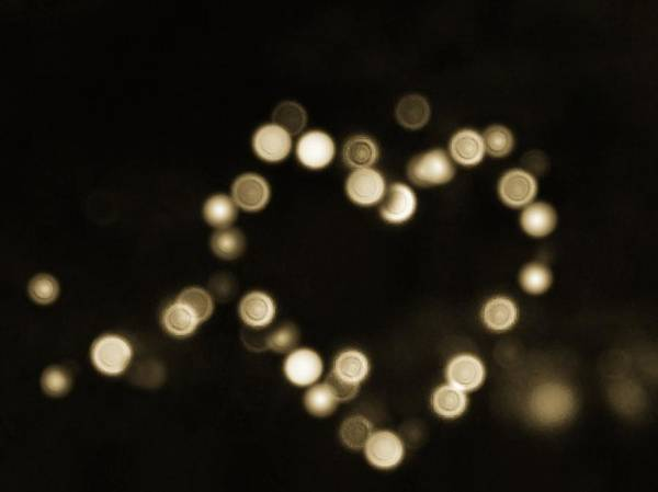 Photograph - Heart Bokeh - Vintage  by Marianna Mills