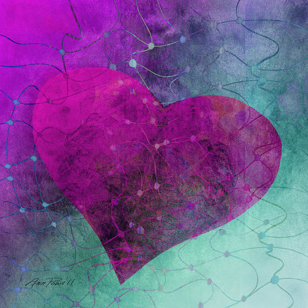 Blue Heart Wall Art - Digital Art - Heart Connections Two by Ann Powell