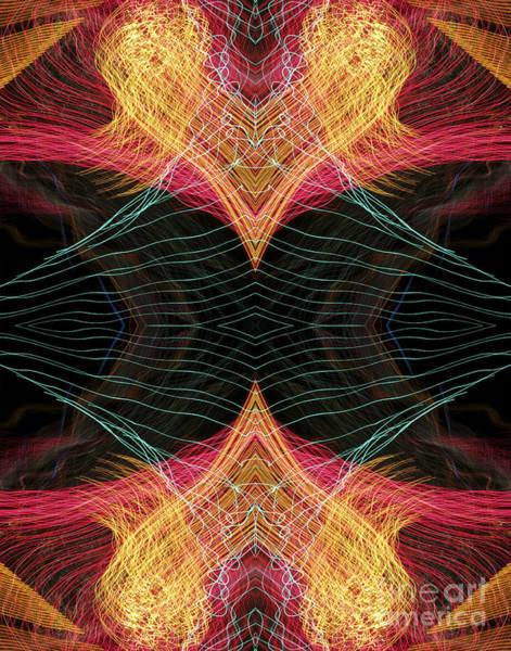 Heart Flames Approaching Art Print