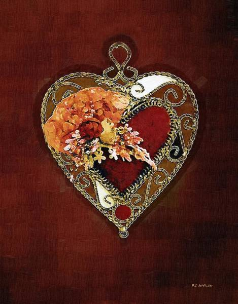 Painting - Heart In Bloom by RC DeWinter