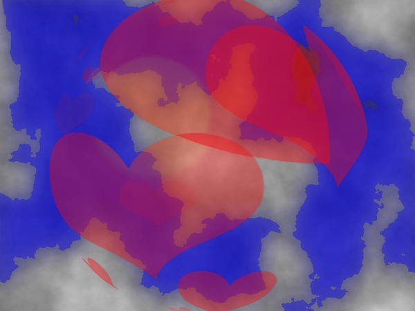 Heart In The Clouds Art Print