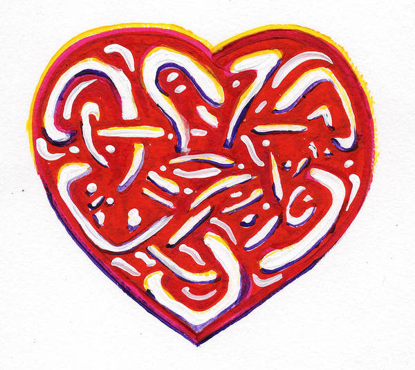 Endless Love Painting - Heart Intertwined by Amanda Balough