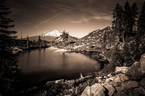 Heart Lake And Mt Shasta Art Print