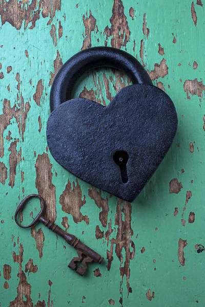 Heart Photograph - Heart Lock And Key by Garry Gay