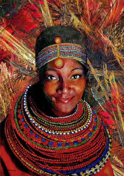 Native Mixed Media - Heart Of Africa by Michael Durst