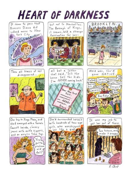 Brooklyn Drawing - Heart Of Darkness by Roz Chast