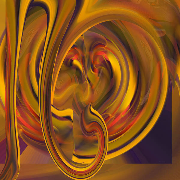 Digital Art - Heart Of Fire by rd Erickson