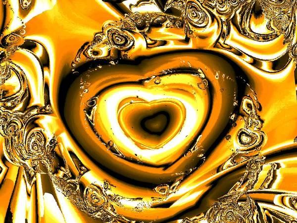 Digital Art - Heart Of Gold by Anastasiya Malakhova