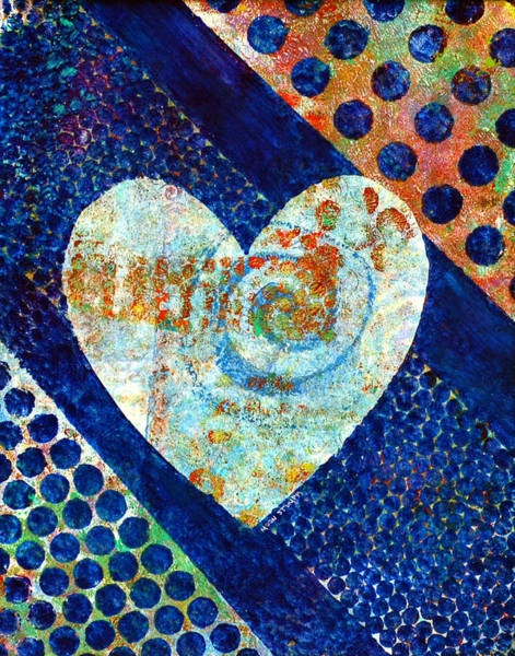 Artwork Painting - Heart Of Hearts Series - Elated by Moon Stumpp