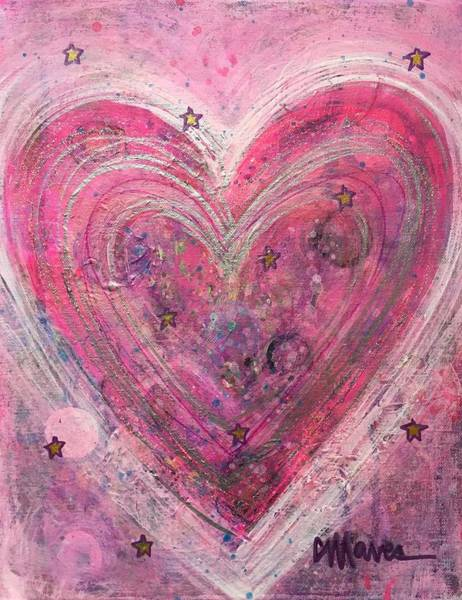 Painting - Heart Of Stars by Laurie Maves ART