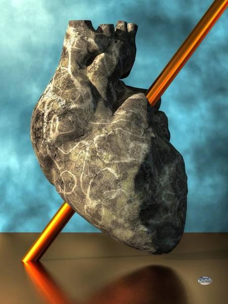 Digital Art - Heart Of Stone by Daniel Eskridge