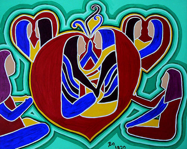 Endless Love Painting - Heart Of The Ages by Barbara St Jean